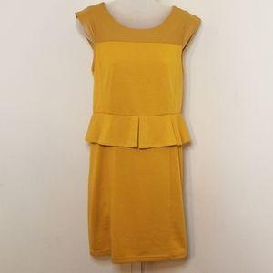 Ezra Golden Peplum Dress
